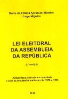 Imagem da capa da publicação Lei Eleitoral da Assembleia da República (anotada e comentada - 1999)
