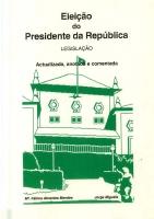 Imagem da capa da publicação Lei Eleitoral do Presidente da República (anotada e comentada - 1995)