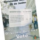 Anúncio de imprensa - Referendo Nacional de 28.06.1998