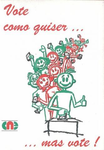 Autocolante - Eleição da Assembleia da República/1995