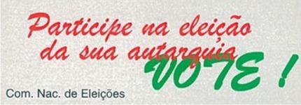 Autocolante - Eleição das autarquias locais/1997