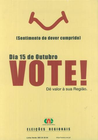 Cartaz - Eleição das Assembleias Legislativas das Regiões Autónomas - ALRA/2000