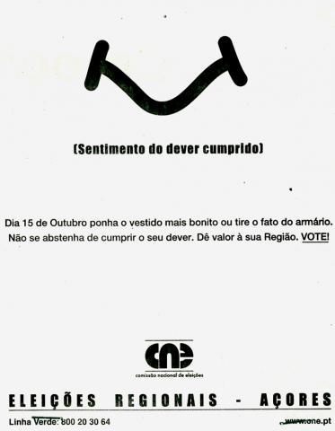 Anúncio de imprensa - Eleição das Assembleias Legislativas das Regiões Autónomas - ALRA/2000